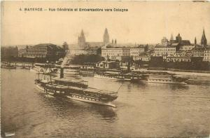 Germany Mayence Mainz vue generale et embarcadere Cologne steamer ship