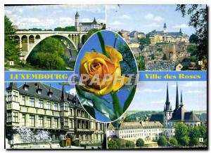 Postcard Modern Luxembourg City of Roses