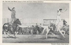 FEMALE RODEO ; Blackie Tad & Mitze Lucas , Trick Riding , 1910-30s