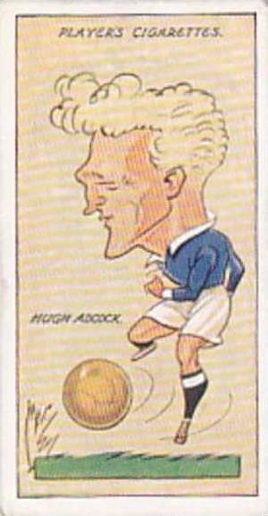 Player Vintage Cigarette Card Football Caricatures By Mac 1927 No 1 Hugh Adcock