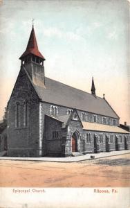 Altoona Pennsylvania~Episcopal Church~Arched Doors & Windows~Unpaved Street~1910