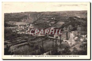 Old Postcard The Alps Mancelles General view of St Leonard Wood at the bottom...