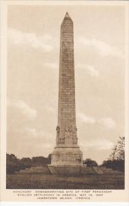 Virginia Jamestown Monument Commemorating Site Of First Permanent English Set...