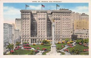 Hotel St. Francis, San Francisco, California, Early Postcard, unused