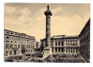 Italy Roma Piazza Colonna Aurelius Column Capello Postcard