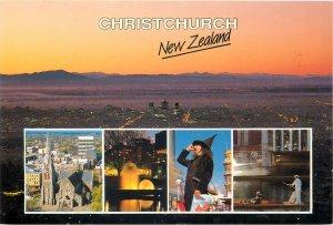New Zealand Postcard Christchurch nocturnal cityscape & different aspects