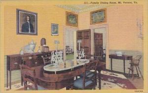Virginia Mount Vernon Family Dining Room 1951