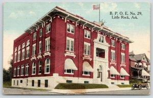 Little Rock Arkansas~BPOE No 29~Elks Temple~Vintage Car in Front~1916 Postcard