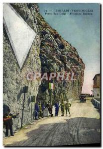 Old Postcard Customs Grimaldi Ventimiglia Ponte San Luigi Frontiere italiana