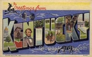Kentucky Large Letter State States Post Cards Postcards  Kentucky USA