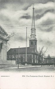 First Presbyterian Church, Elizabeth, New Jersey, early postcard, unused