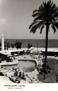 lebanon, BEIRUT BEYROUTH, Excelsior Hotel (1957) RPPC Postcard