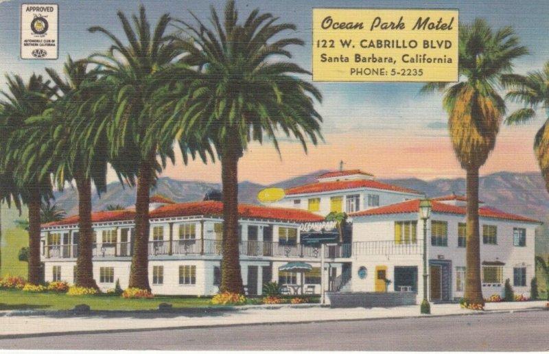 SANTA BARBARA , California  , 30-40s ; Ocean Park Motel