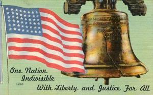 USA Flag and Liberty Bell