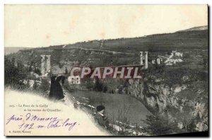 Old Postcard Le Pont De La Caille And Roads In Cruseilles