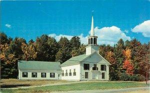 Postcard Colonial Church Campton Hollow, NH