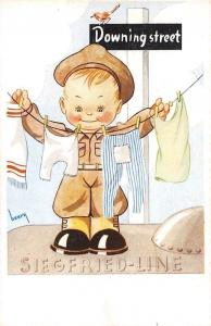 Boy Soldier, Drying Laundry, Siegfried-Line, Downing street, henry artist signed