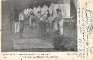 Newark New Jersey National Guard Military Camp Antique Postcard K61729
