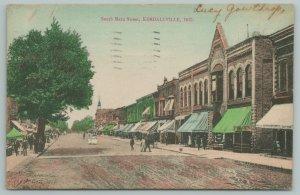 Kendallville Indiana~South Main Street Stores~Berhalter Bros Undertaking~c1910
