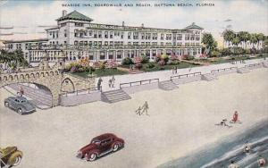 Florida Dayton Beach Seaside Inn Boardwalk And Daytona Beach 1953