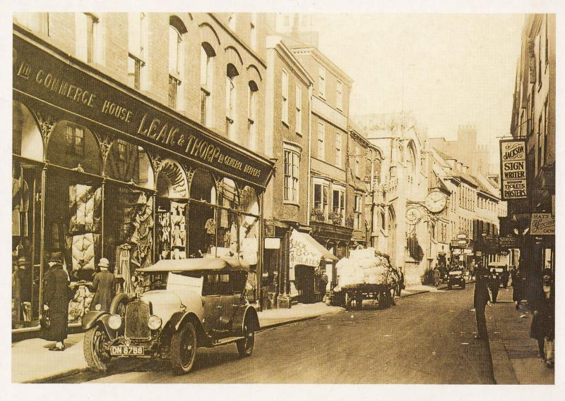 York Old Drapery Drapers Curtain Chocolate Printers Shop Postcard