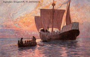 English Warship, 15th Century