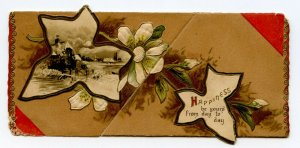 Happiness Be Yours From Day To Day Raphael Tuck & Sons Fold Out New Years Card