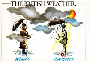 Postcard Fun Comic The British Weather, Winter - Summer by Thomas & Benacci Ltd