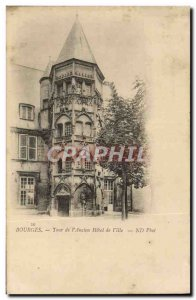 Old Postcard Bourges Tower I & # 39Ancien City Hotel
