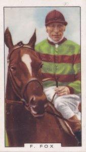 Freddie Fox Derby Horse Race Champion Jockey 1930s Cigarette Card