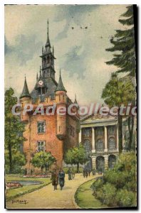 Old Postcard Toulouse Le Donjon And The Capital