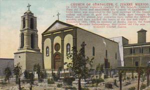 Church Of Guadalupe, Small Cemetery, Ciudad JUAREZ, Mexico, 1900-1910s