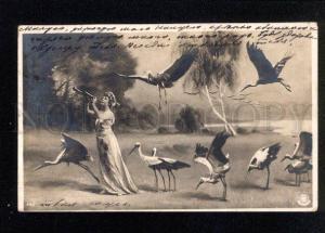034555 BALLET Dancer LUTECE w/ STORKS Vintage PHOTO NPG