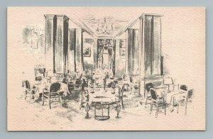 Interior Hotel Mayfair St Louis MO Missouri Postcard