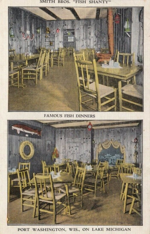 PORT WASHINGTON , Wisconsin, 1949; Smith Bros. Fish Shanty on Lake Michigan