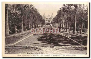 Old Postcard Monte Carlo Casino and Gardens Boulingrins
