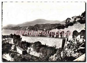 Modern Postcard Menton (A M) General view The Italian Border