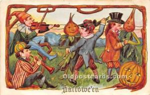 Halloween Postcard Old Vintage Antique Postcard Post Card Writing on back