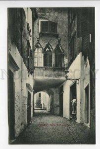 425700 SLOVENIA PIRANO S.Francesco street 1909 year postcard