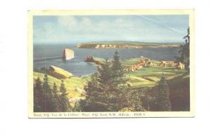View of the Village of Perce,  Quebec, PECO