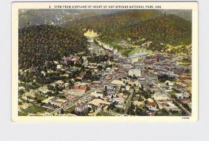 VINTAGE POSTCARD NATIONAL STATE PARK HOT SPRINGS BIRDS EYE VIEW HEART OF TOWN AR