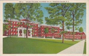 North Carolina Winston Salem Salem College Founded In 1771