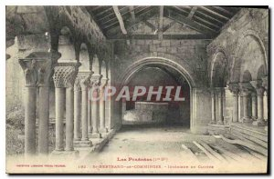 Old Postcard The Pyrennes St Bertrand de Comminges Cloister of Interior