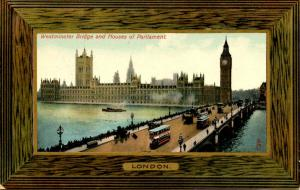 UK - England, London. Westminster Bridge & Houses of Parliament