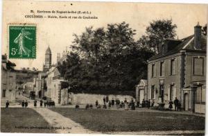CPA  Environs de Nogent- le-Roi (E.-et-L.) -Coulombs - Mairie,Ecole et ..(33354)