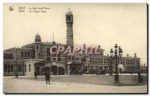 Old Postcard Ghent Gare Saint Pierre