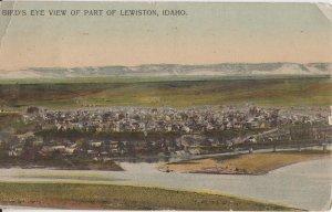 LEWISTON Idaho - BIRD'S EYE PANORAMIC VIEW / 1908 - Primitive
