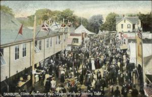 Danbury CT Upper Midway c1908 Fair Postcard