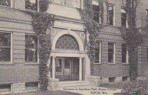 Wisconsin Ripon Entrance To Ingraham Hall Ripon College Albertype
