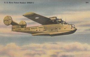 U.S. Navy Patrol Bomber XPB2Y-1 airplane , 30-40s ; in Flight